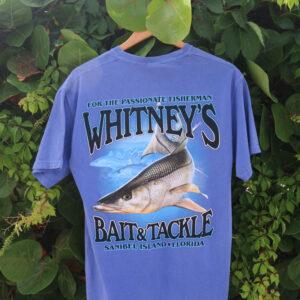 whitneys purple short sleeve tee back